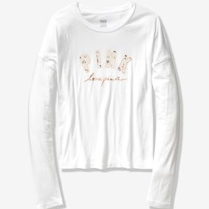 Pink Girlfriend Long Sleeve Tee